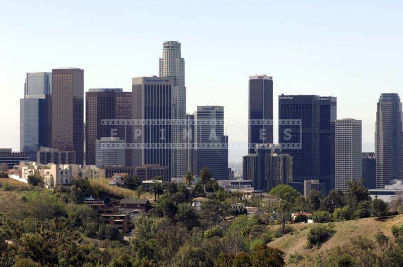 LA cityscape view from Elysian Park