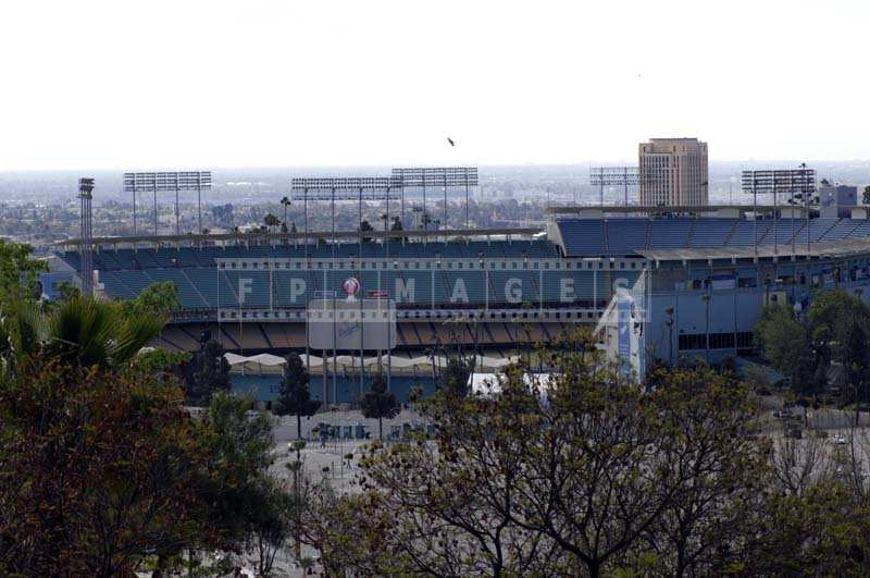 A Panoramic View of the Dodgers Stadium