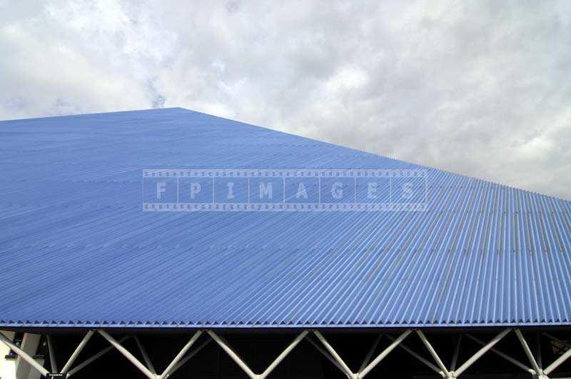 Cobalt Blue Exterior of the Pyramid