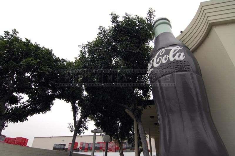 Large Sculpture of Coke bottle