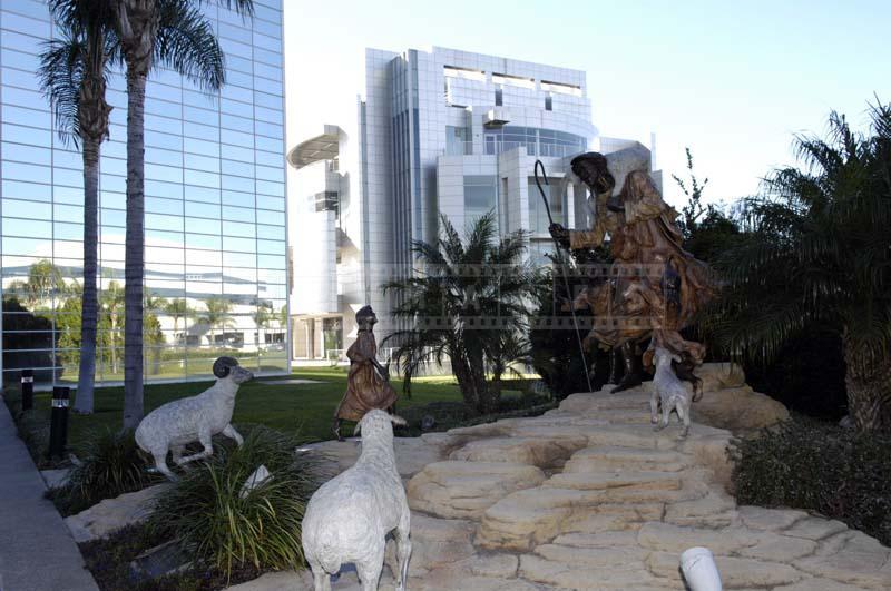 Statue of Shepherd and Sheep