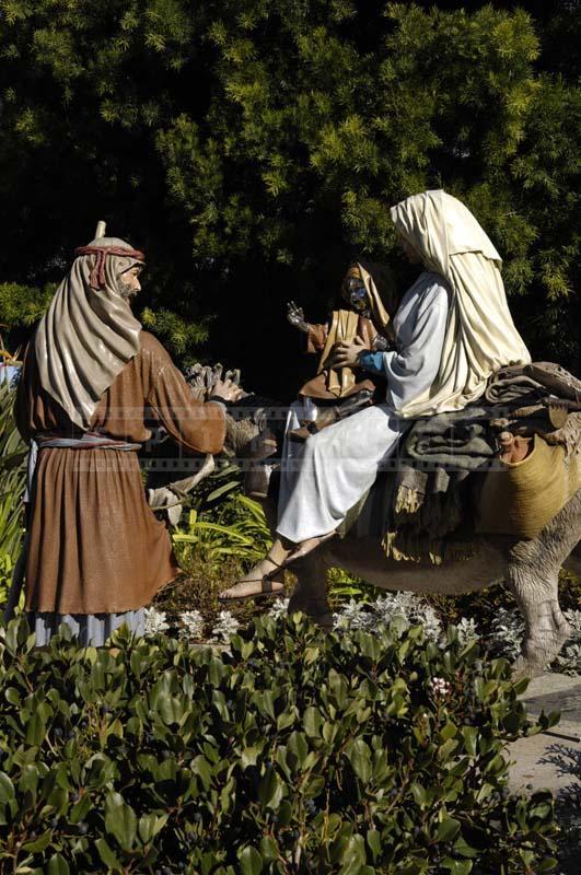Scene of Jesus entering Jerusalem
