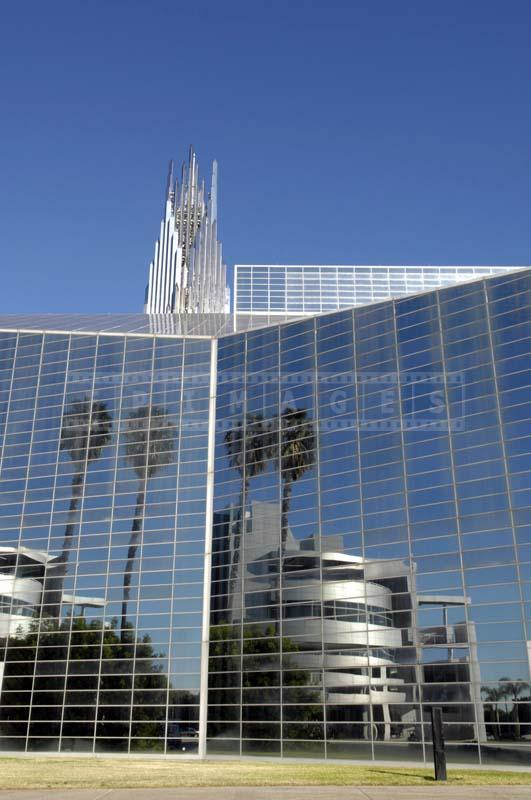 Tall Glass Crystal Cathedral Building