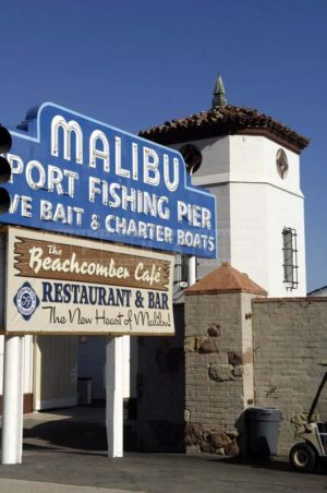 Entrance to Malibu Sport Fishing Pier and Cafe