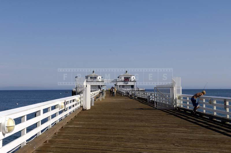 Wooden Deck of Malibu Pier in Malibu, California