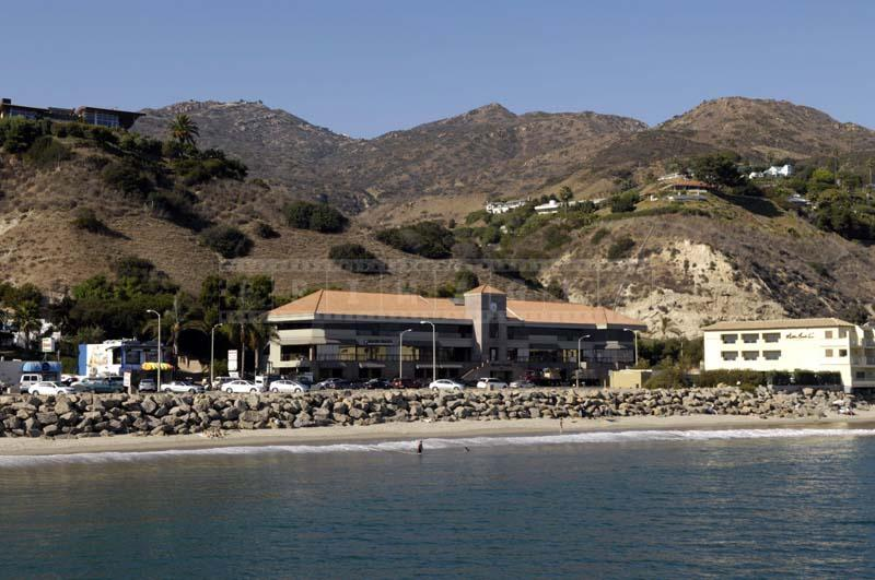 Malibu Parking Near the Beach and Shopping Plaza and Inn