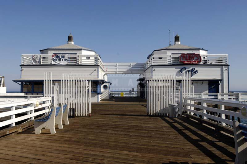 Two Buildings of Malibu Pier Outfitters and Cafe