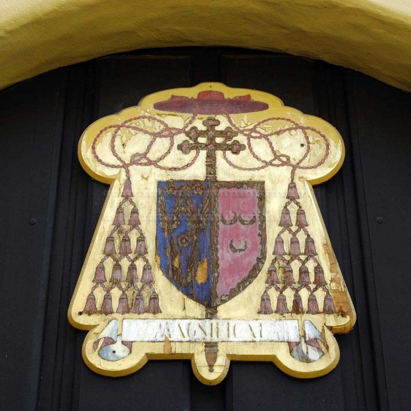 Photo of Old Crest of Mission San Fernando Rey de España