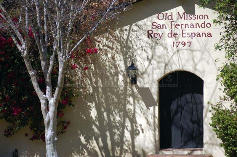 Entrance of Old Mission San Fernando Rey de Espana