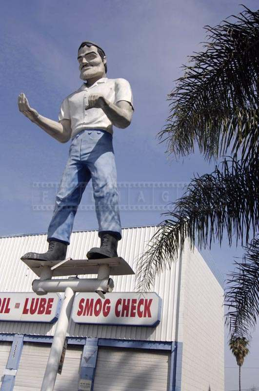 Muffler Man at Smog Check