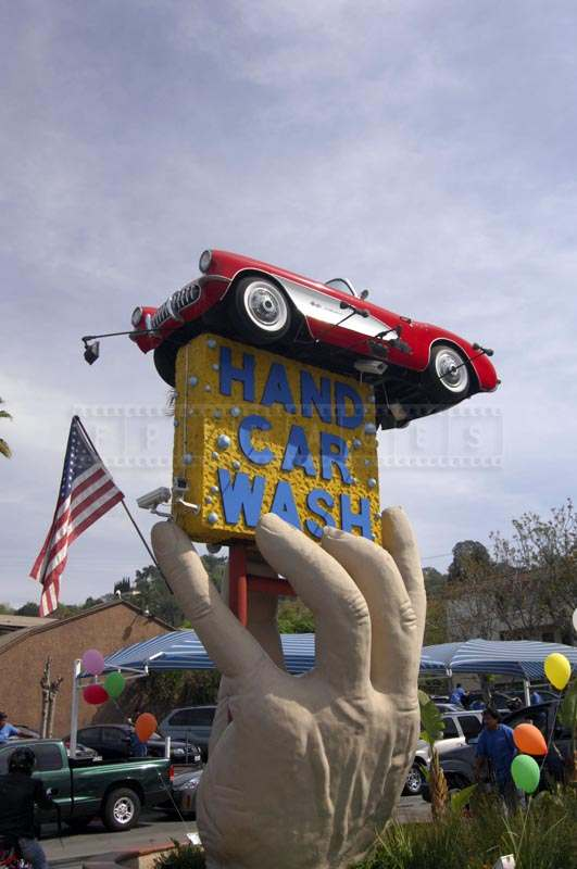 Roadside Sculpture at Hand Car Wash