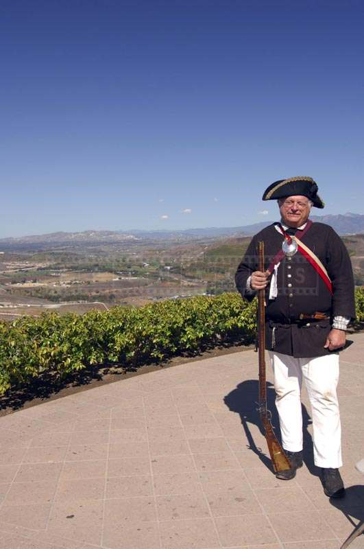 The Artist in Old Soldier Uniform at Reagan Library