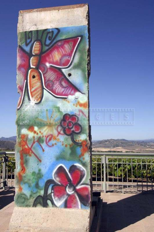 Photo of Berlin Wall at Ronald Reagan Presidential Library