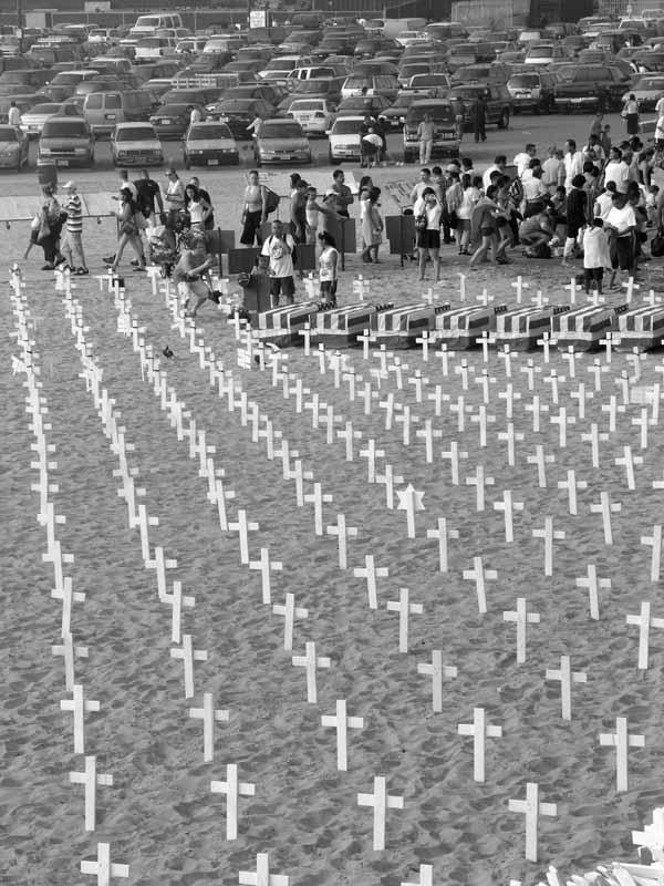 Each cross represents killed soldier