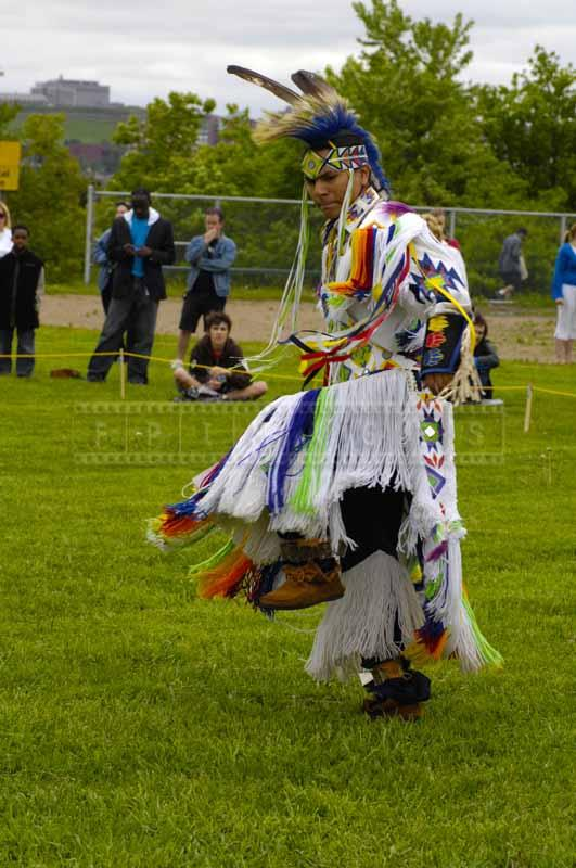 Mi'kmaq performing grass dance