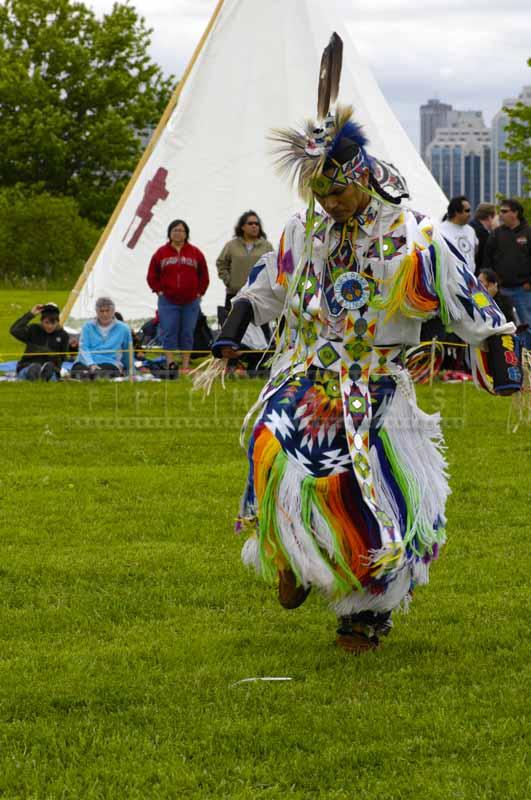 Grass dancer in full regalia