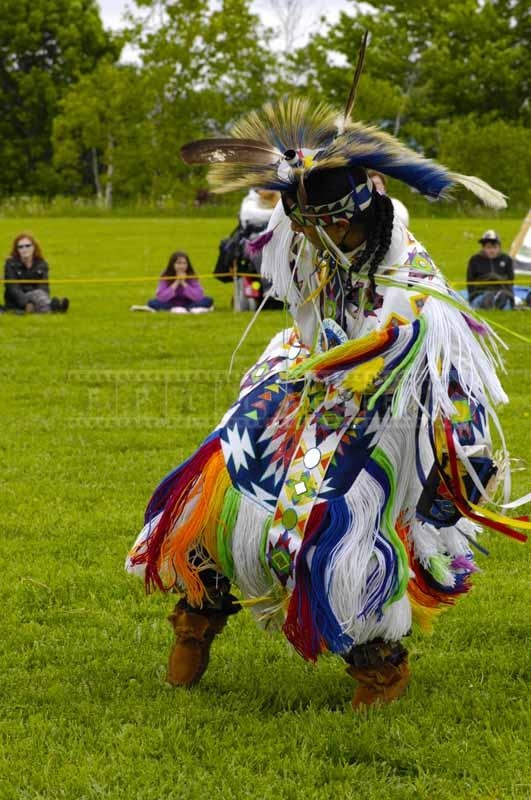 Elaborate moves of grass dance