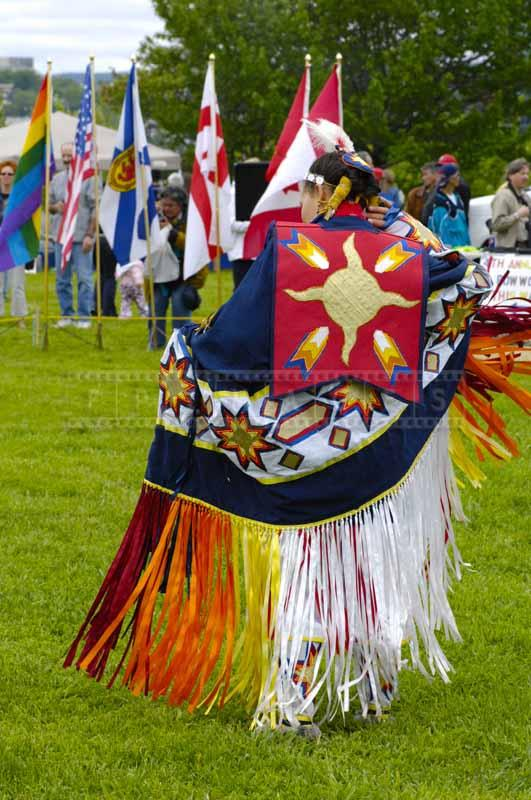 Shawl dancer at powwow