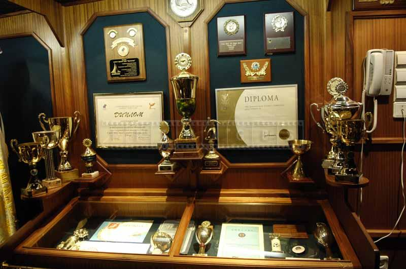 Museum, cups and awards won by the barque