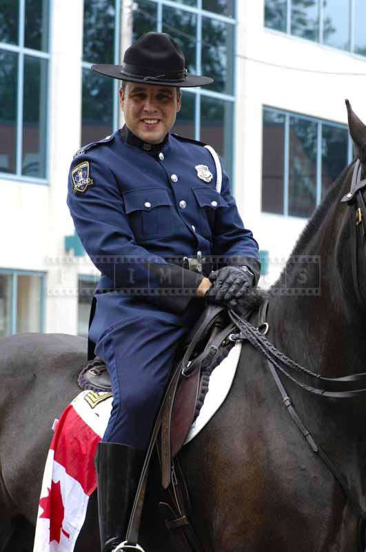 RCMP officer in blue uniform