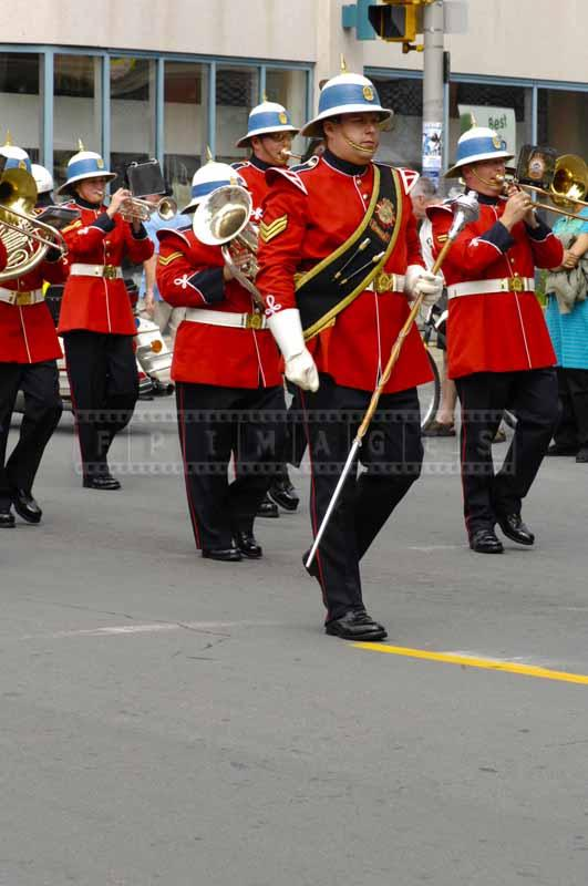 Marching band of Canadian army