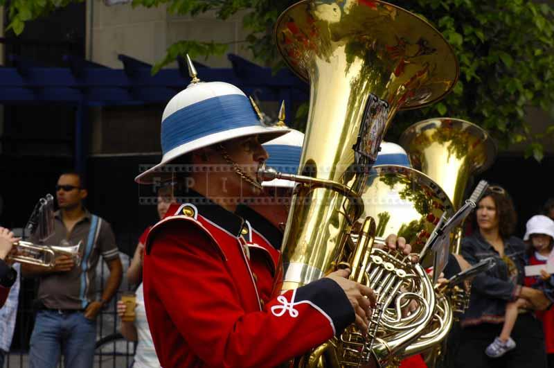 Soldier with tuba