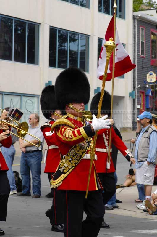 Bandmaster marching