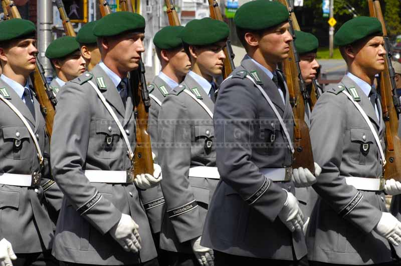 German soldiers at the tattoo parade