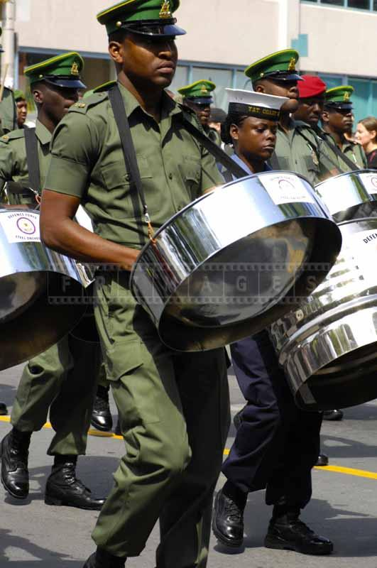 Trinidad & Tobago defense forces steel orchestra