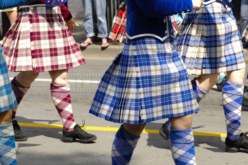 Tartans of Scottish highland dancers