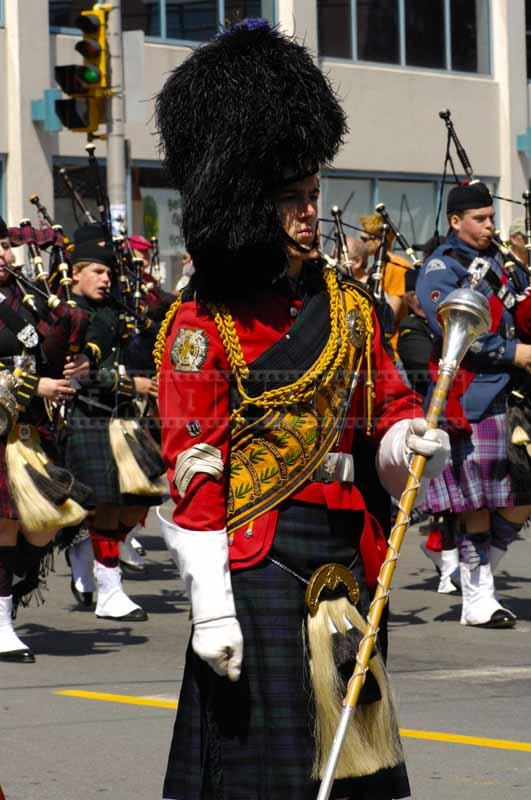 Military bagpipes of Scottish band
