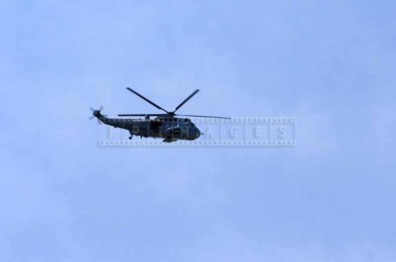 Canada Sea King Helicopter flying over