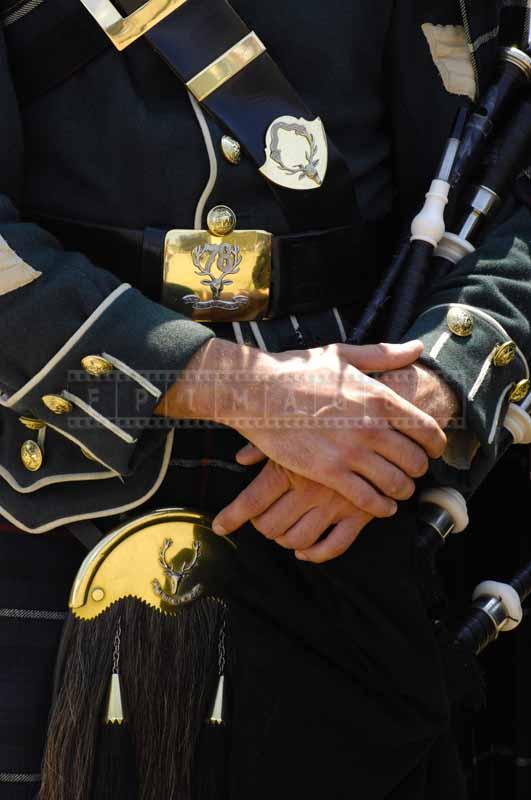 Close picture of the highland uniform