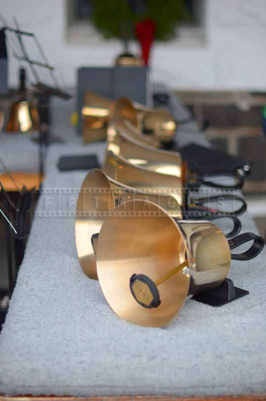 A row of handbells