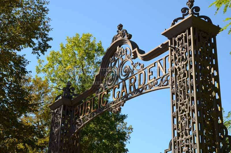 Cast Iron Gate to Public Gardens