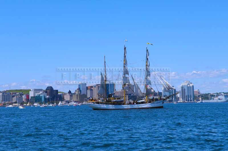 Barque Picton Castle from Lunenburg Nova Scotia at Parade of Sail