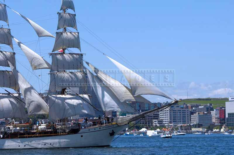 Full sails of barque Europa at Tall Ships Halifax 2009