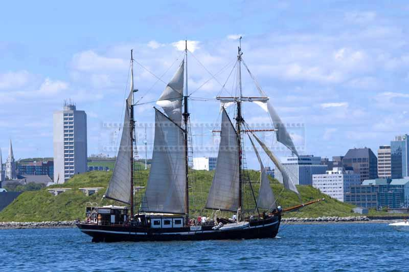 Schooner Bel Espoir sailing near Georges Island