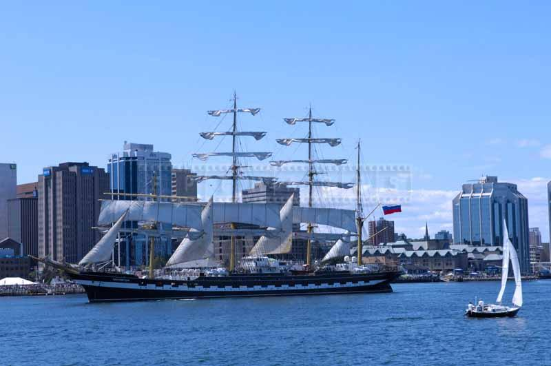 Kruzenstern - final tallship in the Parade of Sail, nautical photos
