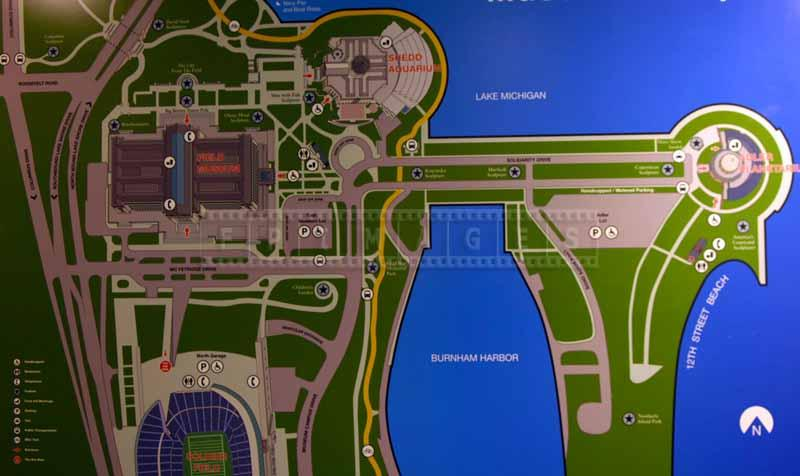 Chicago Museum Campus Map on