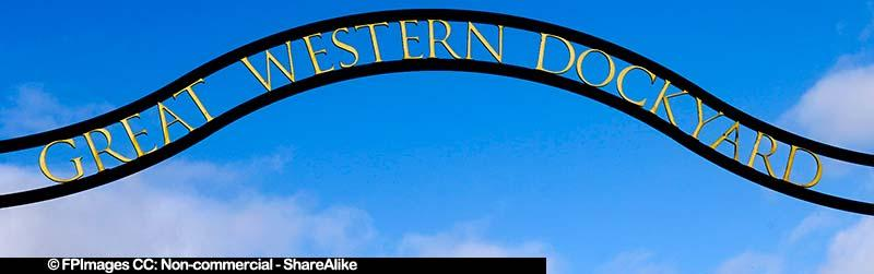 Museum Entrance sign saying Great Western Dockyards, free image