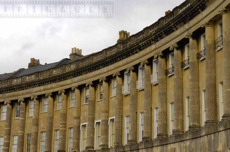 Rows of Columns at Royal Crescent