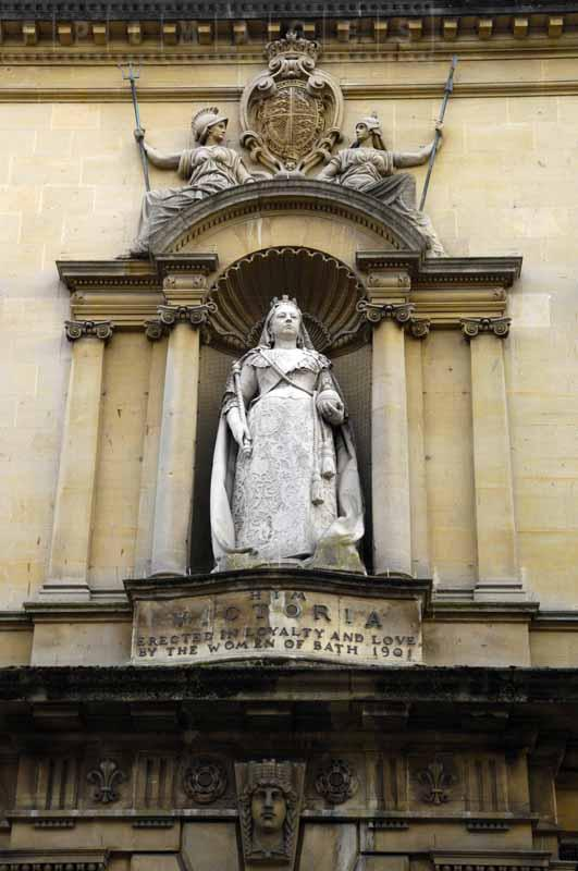 Queen Victoria monument in Bath, UK