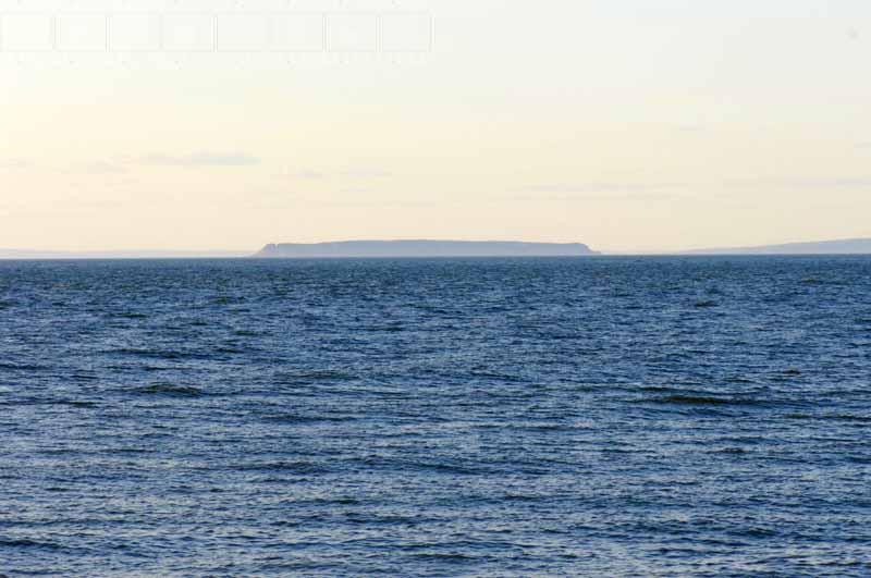 Marine landscape with Isle Haute, Nova Scotia