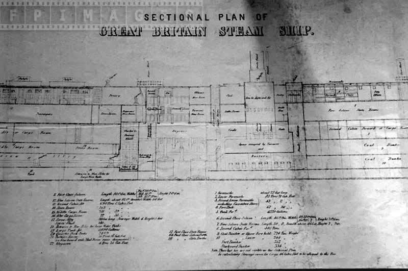 Drawing of the sectional plan