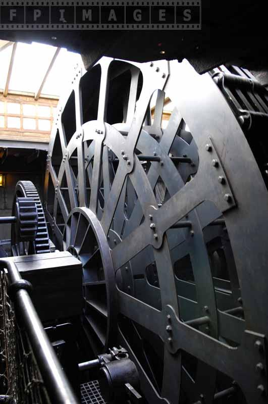 Chain gears in the engine room