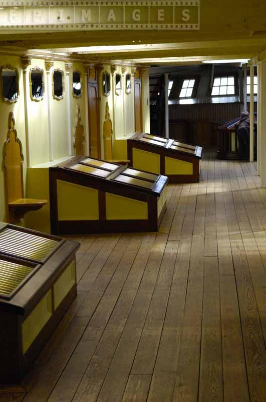 Second deck inside the ship
