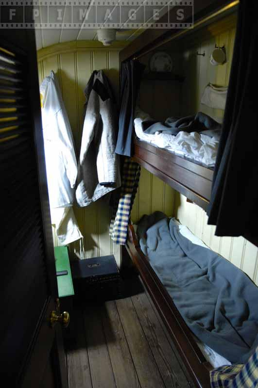 bunk beds inside second class cabin