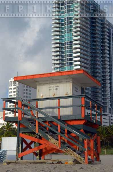 Lifeguard hut at Miami beach