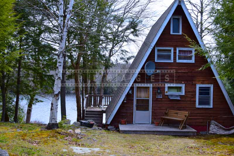 Falls Lake A-frame cottage, outdoor pictures